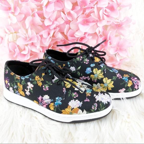 8ece0d6bae8 Dr. Martens Darcy Cavendish Floral Canvas Shoes 6